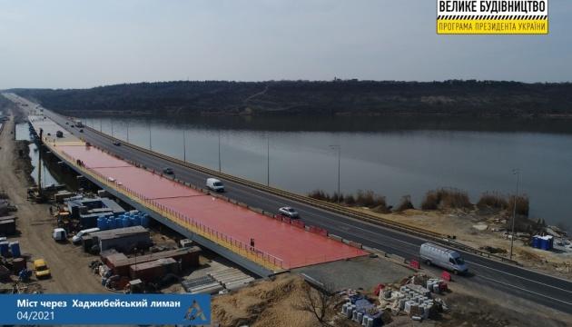 Укравтодор влаштовує на Хаджибейському мосту тришарову гідроізоляцію