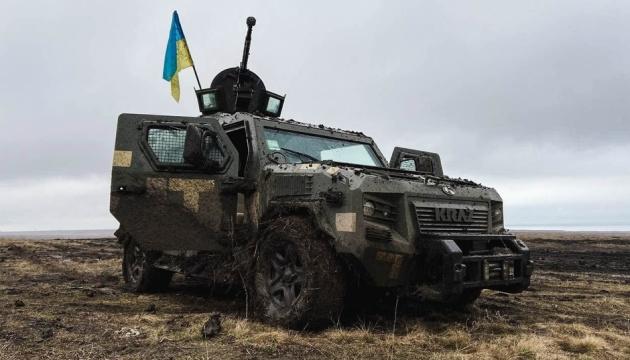 Grenzsoldaten üben in Region Donezk