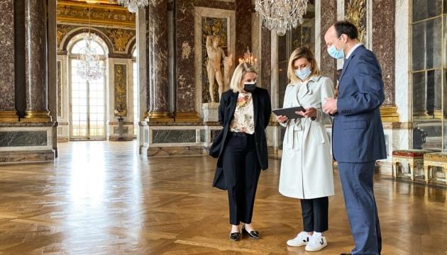 Елена Зеленская запустила украиноязычный аудиогид в Версальском дворце