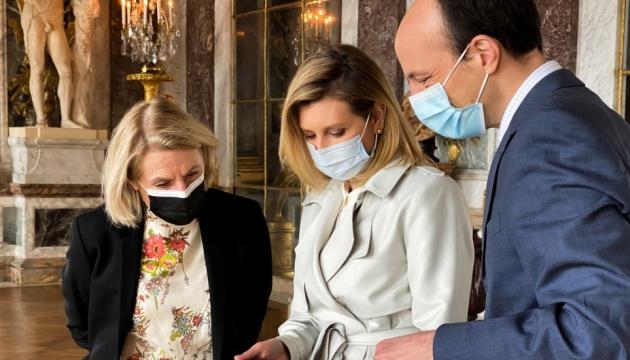 Olena Zelenska lanza una audioguía en ucraniano en el Palacio de Versalles
