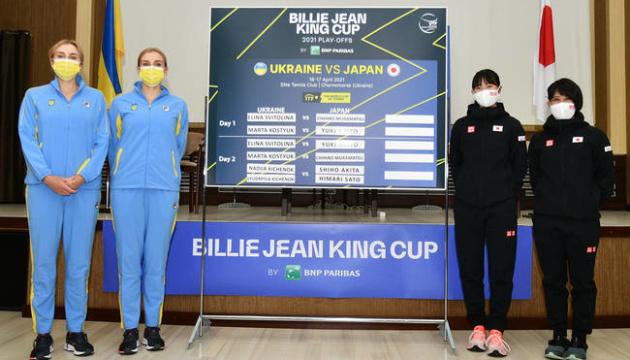 テニスBJK杯プレーオフ、ウクライナ女子、日本に勝利