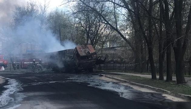 На Луганщині сталася пожежа у військовій частині