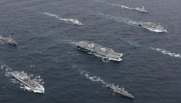 Крупнейшая авианосная группа ВМС Британии отправляется в полугодовой поход