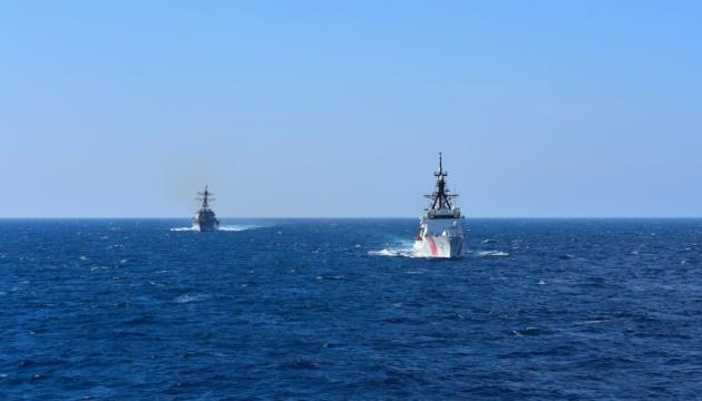 U.S. Cutter Hamilton begins transit into Black Sea