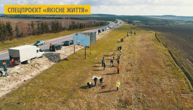 На Тернопільщині озеленюють міжнародну автотрасу М-19