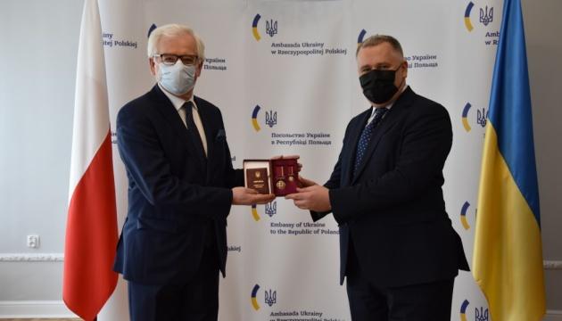 Były polski minister spraw zagranicznych Czaputowicz został odznaczony ukraińskim orderem