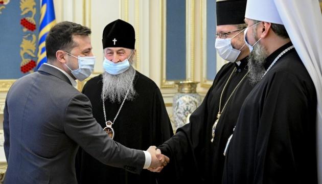 Зеленский призвал руководителей церквей рассказать верующим про COVID-вакцинацию