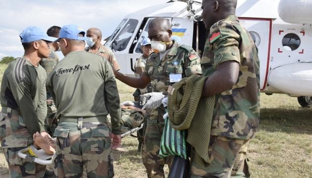 Українські миротворці у Конго евакуювали травмованих в аварії військових