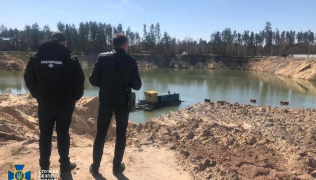 На Житомирщині СБУ заблокувала незаконний видобуток піску у промислових масштабах