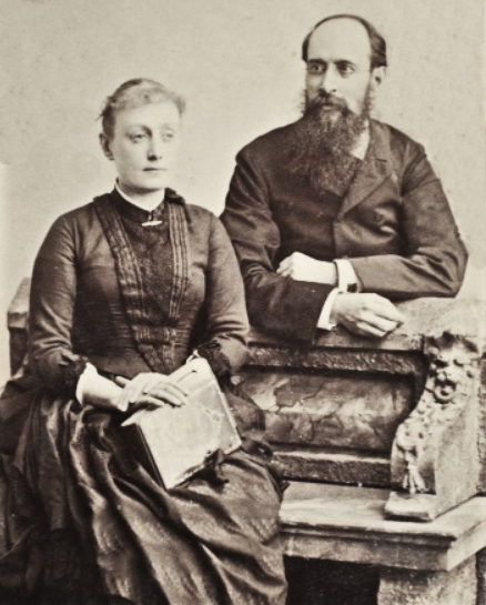 Панас Мирний із майбутньою дружиною Олександрою Шейдеман 1889 р. А