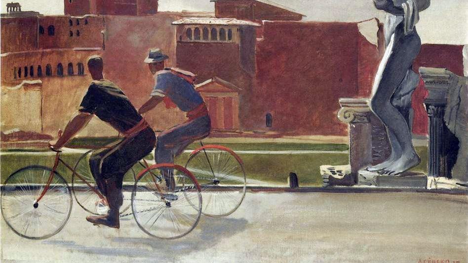 Італійські робітники на велосипедах, 1935 р.