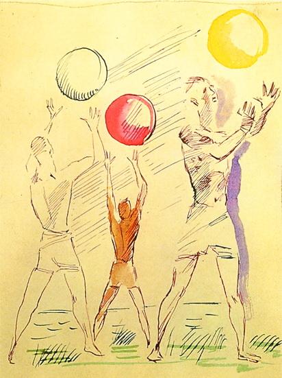 Фігури із м'ячами, 1928 р.
