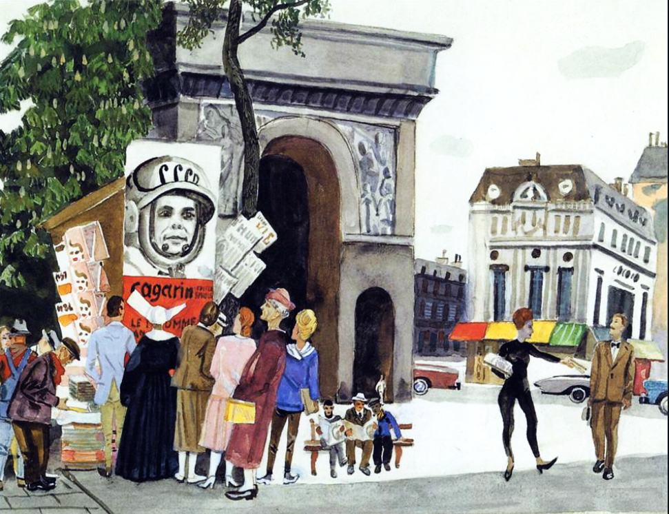 День Гагаріна в Парижі, 1962 р.