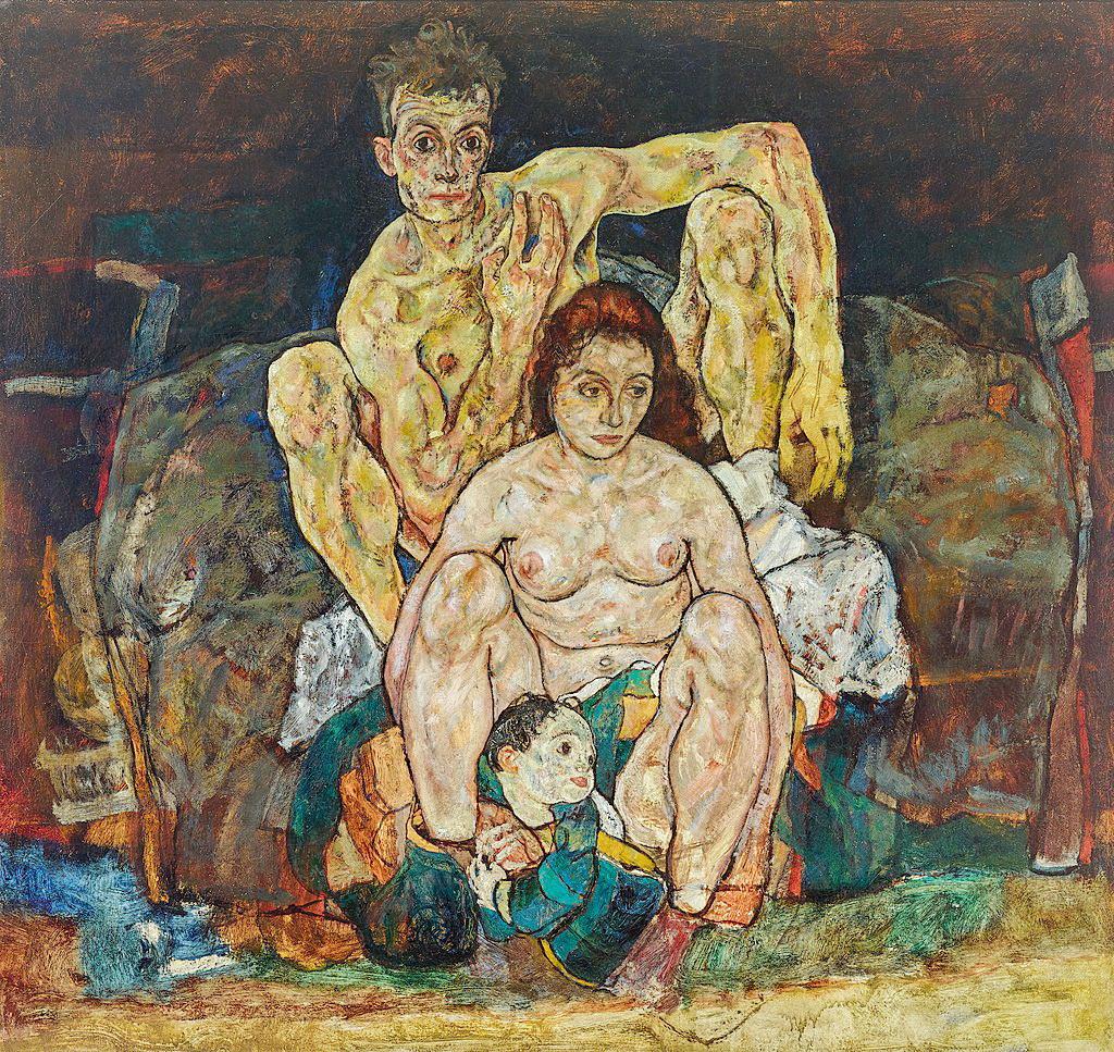 """Егона Шиле, """"Сім'я"""", 1918 р."""