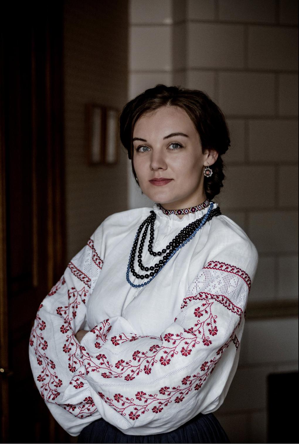 Леся Воронюк в сорочці Лесі Українки