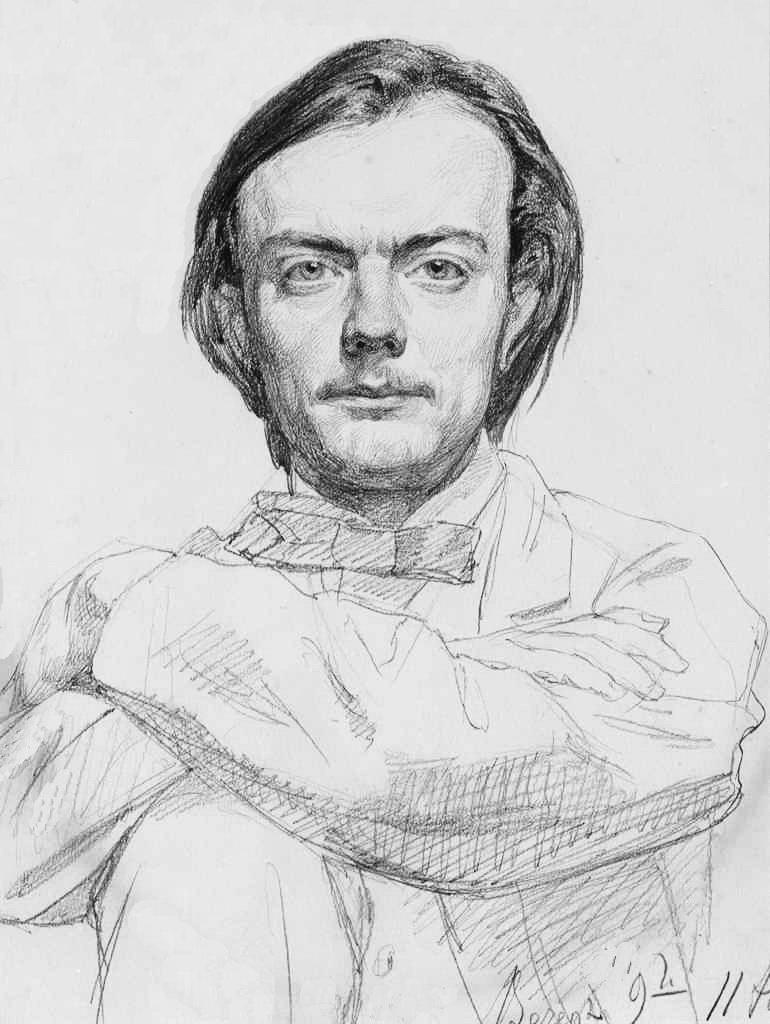 Портрет Миколи Мурашка. Худ. Ілля Рєпін. 1866