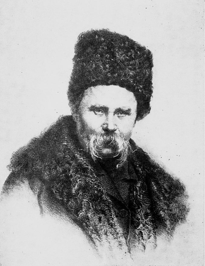 Микола Мурашко, потррет Тараса Шевченка, літографія, 1864-1867 рр.