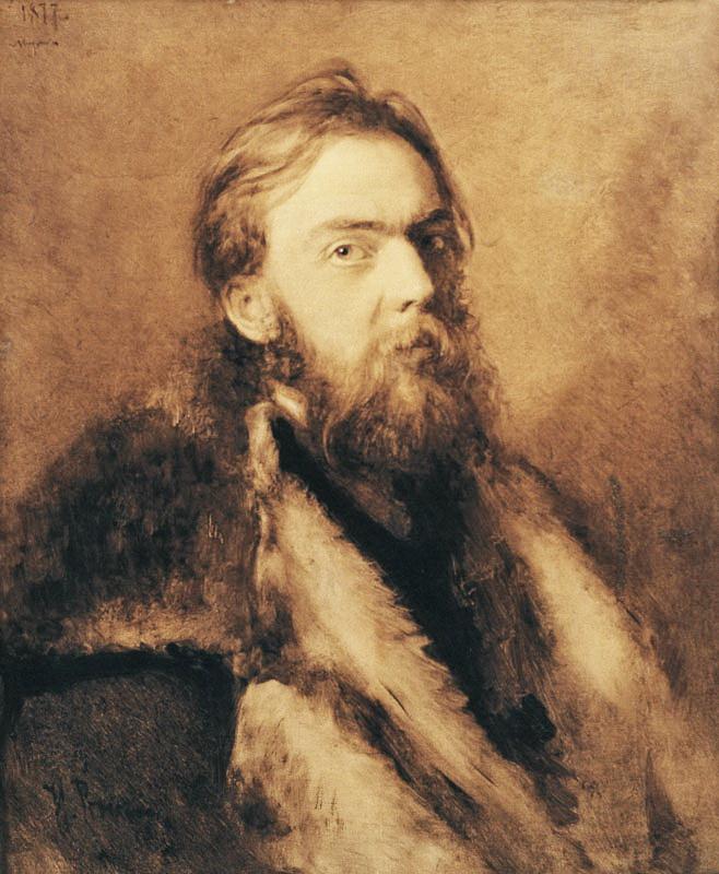 Ілля Репін, портрет художника Миколи Мурашка, 1877 р. А