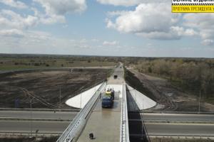 """Projekt """"Großbau"""": In Region Dnipropetrowsk neue Brücke gebaut"""
