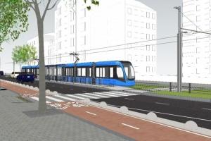Швидкісний трамвай продовжать до станції метро «Палац спорту»