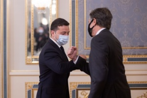 Zełenski spotkał się z sekretarzem stanu USA Blinkenem