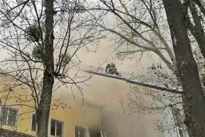 Під час масштабної пожежі у Вінниці загинула людина