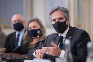 Korrupte Kräfte in der Ukraine und russische Aggression wollen gemeinsame Ziele erreichen - Blinken