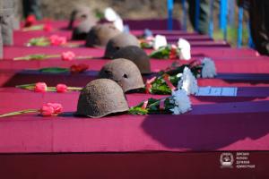 На Донетчине перезахоронили 99 воинов Второй мировой