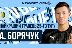 Форвард «Руха» Борячук став найкращим футболістом 25 туру УПЛ