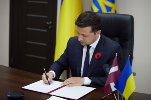 Zelensky, Levits sign declaration on Ukraine's European prospect