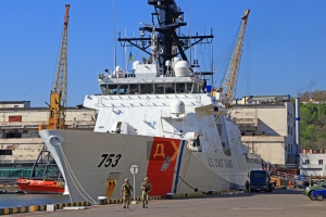 U.S. Coast Guard's cutter Hamilton enters Odesa port