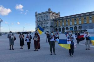 Українці в Португалії закликали парламент країни засудити політику місцевих комуністів щодо України