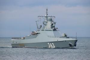 Українські прикордонники виявили в районі Чорноморська ракетний корвет РФ