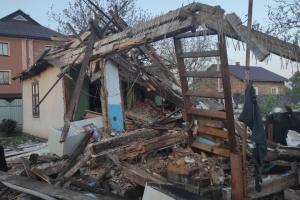 Во Львовской области взрыв газа полностью разрушил жилой дом