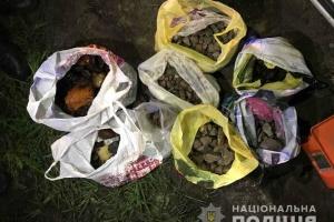 На Рівненщині викрили двох ділків, які перевозили бурштин-сирець