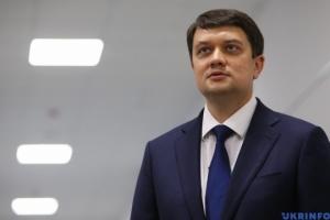 Razumkov: El apoyo de Letonia es importante en la lucha por la recuperación de los territorios ucranianos ocupados temporalmente