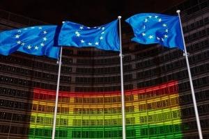 Будівлю Єврокомісії підсвітили у кольори ЛГБТ