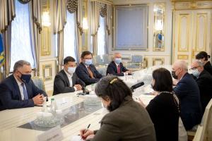 Зеленский обговорил с вице-премьером Грузии взаимодействие на пути к ЕС и НАТО