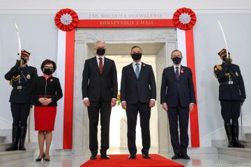 In Warschau Feierlichkeiten zum Tag der Verfassung mit fünf Präsidenten begonnen