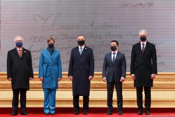 Zełenski podziękował prezydentom za wsparcie Ukrainy