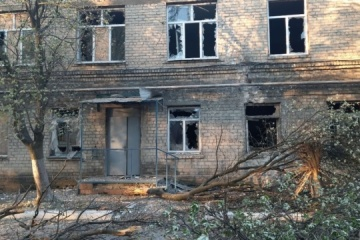Ocupantes atacan Krasnogorivka, un hospital queda dañado