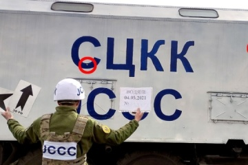 Russian-backed forces open fire at Ukrainian JCCC vehicle near Mariupol