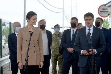 Разумков і Чмілітє-Нільсен прибули на КПВВ «Каланчак»