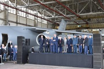 Antonov completa el montaje del primer fuselaje de An-178-100P para la Fuerza Aérea de Ucrania