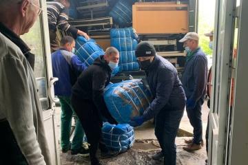 Awdijiwka und Torezk erhalten humanitäre Fracht aus Lettland