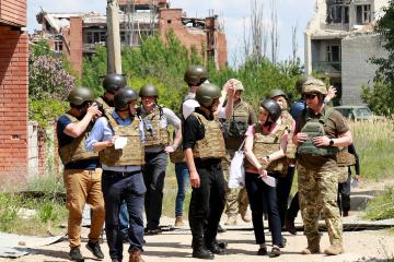 Bundestag delegation visits JFO area in eastern Ukraine