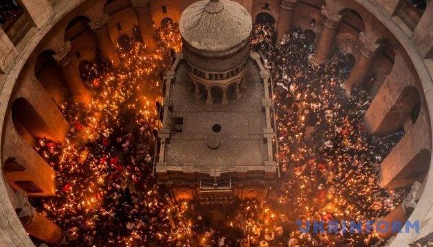 Ceremonia de la Luz Sagrada en Jerusalén