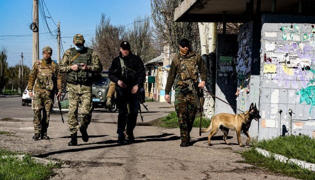 Сили ООС провели у прифронтовому Торецьку оперативну перевірку