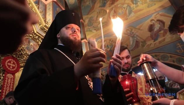 У Михайлівський Золотоверхий собор доставили Благодатний вогонь