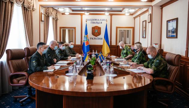 У Нацгвардії окреслили плани посилення співпраці з армією Швеції